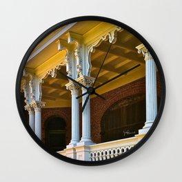 Longwood Home - Detail of Columns Wall Clock