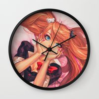dangan ronpa Wall Clocks featuring Crazily Cute by Chiyo