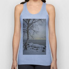 Curves of the Silver Birch by Teresa Thompson Unisex Tank Top