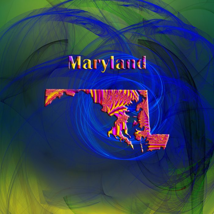 Maryland Map Duvet Cover