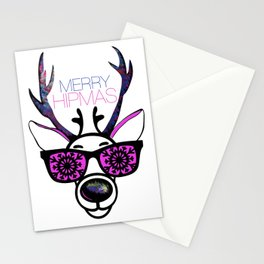 MERRY HIPMAS / DEER Stationery Cards