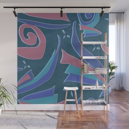 Spirals and lines geometric abstract Wall Mural