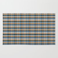 plaid Area & Throw Rugs featuring Plaid by Livia Rett