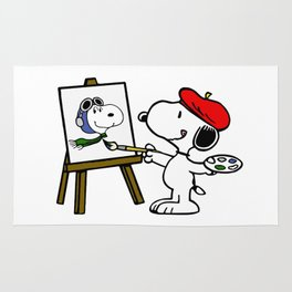 snoopy paint Rug