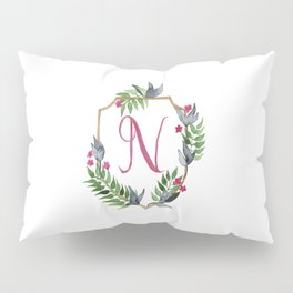 Jungle Gold Monogram Crest N Pillow Sham