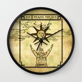 Praise The Sun - Tarot Solaire Wall Clock