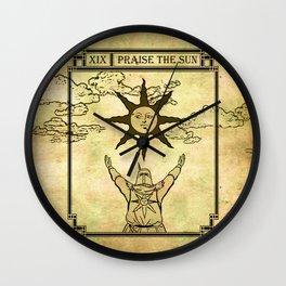 Praise The Sun - Tarot Solaire Wall Clock