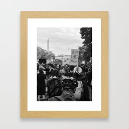White House BLM  Framed Art Print