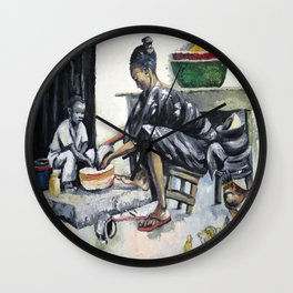 My Mother and I  Wall Clock
