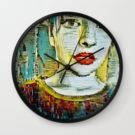 Serendipity Beyond Smashed Mirrors Wall Clock