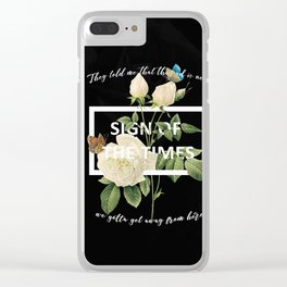Harry Styles Sign Of The Times graphic design Clear iPhone Case