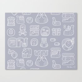 Picto-glyphs Story Canvas Print