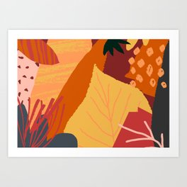 Autumn Abstract 1 Art Print