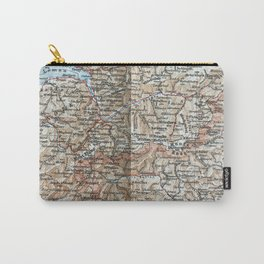 Where Italy, France & Switzerland meet, 1900 map Carry-All Pouch