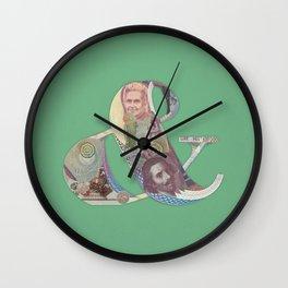 Bodoni Wall Clock
