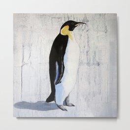 Lone Emperor Penguin Metal Print