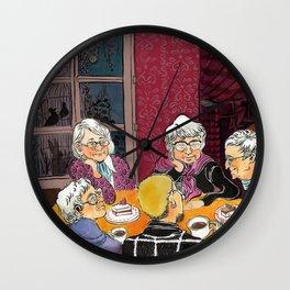 grandmas' tea party Wall Clock
