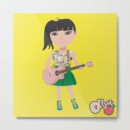 Ollyne Apple with guitar Metal Print