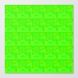 a - pattern green Canvas Print