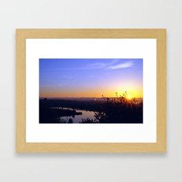Seattle Dawn (rectangle) Framed Art Print