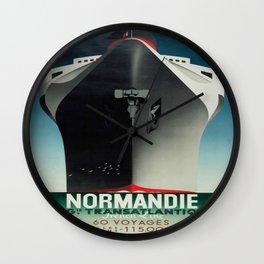 Vintage poster - Normandie Wall Clock
