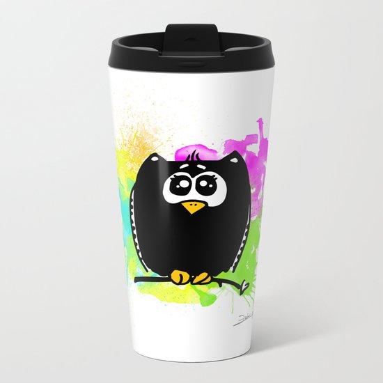 The owl without name ;) Metal Travel Mug