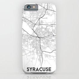 Minimal City Maps - Map Of Syracuse, New York, United States iPhone Case