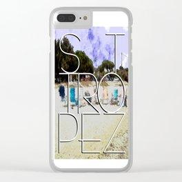 Summerholiday near St. Tropez Clear iPhone Case