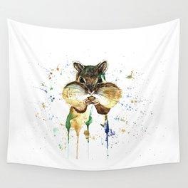 Chipmunk - Feeling Stuffed Wall Tapestry