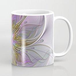 Flourish, Abstract Fractal Art Flower Coffee Mug