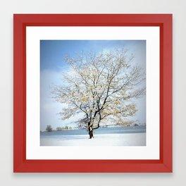Second Snow Framed Art Print