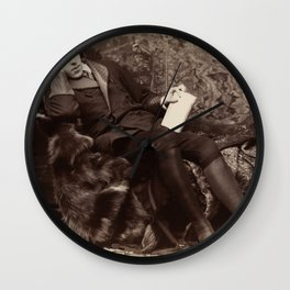 Oscar Wilde Lounging Portrait Wall Clock