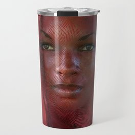 African Beauty With Red Headscarf Travel Mug