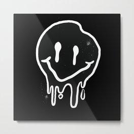 Funny black Smile Emojy Metal Print