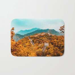 The Great Wall of China in Autumn (Color) Bath Mat