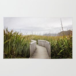 Grassy Pathway- New Zealand Rug