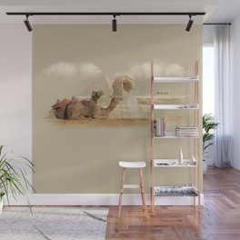Egypt landscape with camels Wall Mural