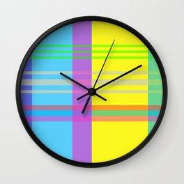 Easter Plaid Wall Clock