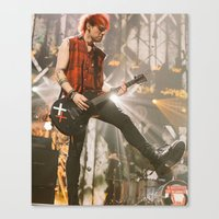 michael clifford Canvas Prints featuring Clifford Michael // Live by Fan_Girl_Designs