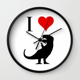 I Love Dinosaurs - T-Rex Wall Clock