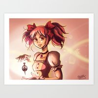 madoka magica Art Prints featuring Madoka by Schewy