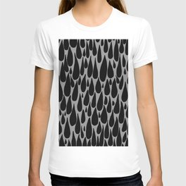 tears in black and grey T-shirt