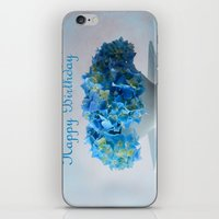 hydrangea iPhone & iPod Skins featuring Hydrangea by Fine Art by Rina