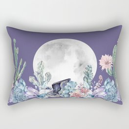 Desert Nights Gemstone Oasis Moon Purple Rectangular Pillow