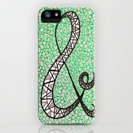 Green Ampersand iPhone Case
