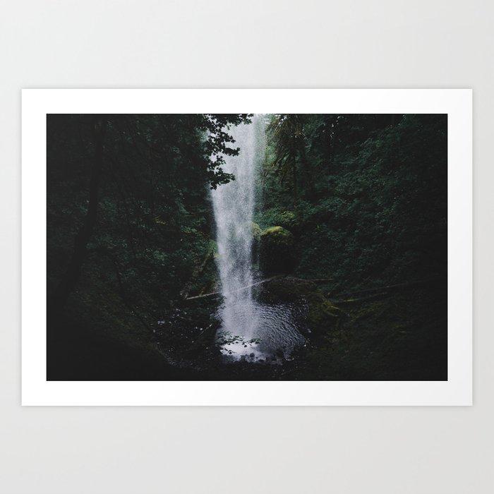 Behind the Falls II Art Print