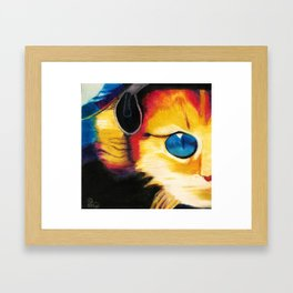 Pop Cat Framed Art Print