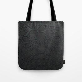 Black organic abstraction Tote Bag