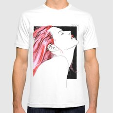 hair in rose White LARGE Mens Fitted Tee