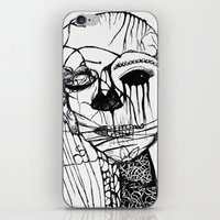 psycho iPhone & iPod Skins featuring ~psycho by alexisdarkness